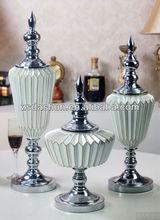 MPA-BER0003WT hot sale resin art minds vase style fireplace decoration
