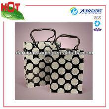Black Grain Polka Dots Euro-tote PP Gift Bags