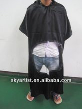 Anti-dirt and waterproof hair cutting cape with clear space to read magazine