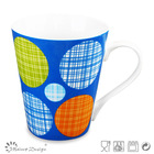 flower design porcelain coffee mug cup engrave