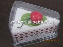 sweet white cake towel as gift