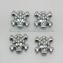 Hotsale 8mm crystal skull charms for bracelet,phone strap and pet collarJP08-320