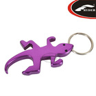 Aluminum Gecko Easy Open Keyring