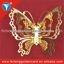 Hot selling emulational decorated metal butterfly sculpture