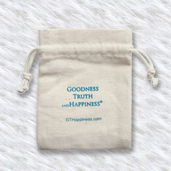 100% natural unbleached cotton canvas drawstring bag