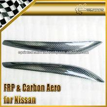 For Nissan Skyline R34 GTT GTR Carbon Fiber Headlight Eyebrow Eyelid