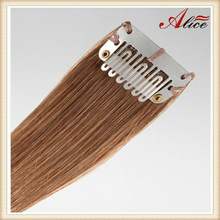 Best quality clip in one piece hair extensions black