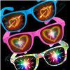 2015 popular plastic fireworks glasses,amazing heart shapes, 3D-World Brand