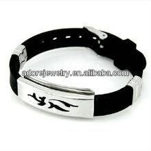 Delicated plastic & stainless steel bracelet