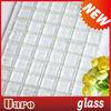 Transparent white 20mm single color tile