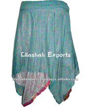 2108 Silk sari Diamond Skirt jupsy skirts boho indian pants yoga indian pants Vintage Garments 100%Vintage Silk Sari Skirts