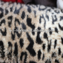 XCl 2013 best sale Plush faux fur fabric with leopard printed