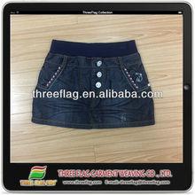 fashion style hot sale girls denim skirt