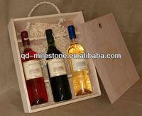 3 Bottle Wooden Wine Box/Wine Package Wooden Box