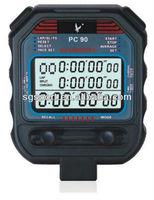 3-Row 60 lap memories professional digital sports stopwatch countdown timer SGP80