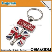 Metal lovely London souvenir keychain
