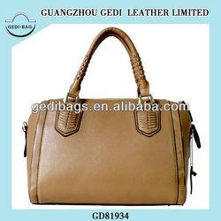 cow leather handbag ladies bostom web bag women handbag manufacturer
