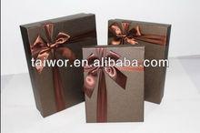 recycled cardboard brown gift tie packaging box