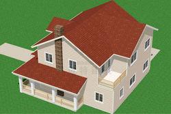 Prefab light steel villa/residential house project