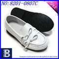 Facilitar el uso de arco de cuero negro/blanco las niñas zapatos de otoño de zapatos de la primavera para gilrs