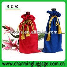 custom velvet bag/wine velvet bags