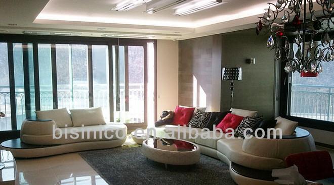 Unique design moon shape living room sofa set s shaped for V shaped living room