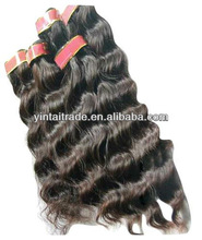 Factory Price 100% REMY HUMAN HAIR WEAVING WEFT EXTENSIONS NATURAL WAVE,Malaysia Natual Hair Weft