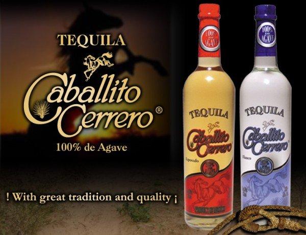 Tequila caballito cerrero 100% de agave