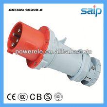 New waterproof 3p+n+e plug socket