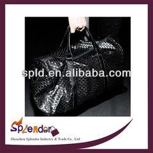 2014 New Fashion men leather luggage travel bags totes retro handbags