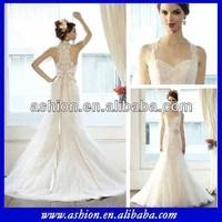 WE-1526 Stunning halter neckline sheer back beautiful bridal dress turkey little bride gown