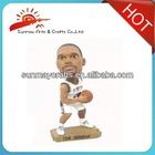 Polyresin NBA moving shaking head dolls