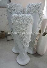 polyresin decoration rose pattern vase