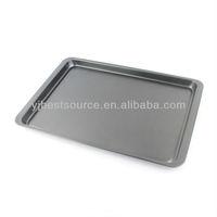 Carbon Steel Rectangle Aluminum Foil Pizza Pan Cake Mold Double Grill Pan