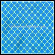Blue and white check printed swimwear/beachwear/underwear nylon spandex fabric wholesale