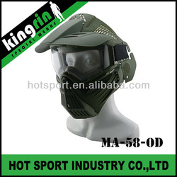 KINGRIN wargame tactical gear military protective full face mask paintball face mask