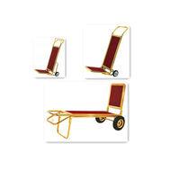 Platform Luggage Trolley Barrow Luggage Cart with Four Wheels