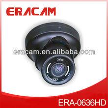 1/3 Effio-E CCD 700TVL 8 Privacy Masking Areas IR Waterproof Mini Dome Fisheye Lens 360 Degree Rotation CCTV Camera