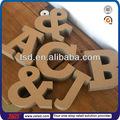 Personalizado tsd-c6018 decorativo letras de cartón/venta al por mayor de madera letras/3d la letra de canal
