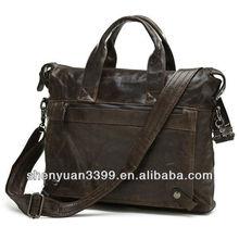 Vintage Leather Men's Dark Coffee Briefcase Laptop Bag Messenger Handbag Sales!
