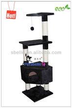Black pet product cat tree for cat