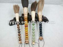 artistic calligraphy brush, antique Chinese writing brush, jade brush