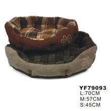 Luxury sherpa check pattern dog house designs