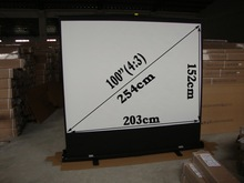 """High Quality Matte White Pull Up Floor Projection Screen/100""""(4:3) 203x152cm Pull Up Floor Stand Projection Screen"""