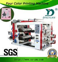 YT-41000 4 colours Full automatic flexo plastic bag printing machine for plastic bags