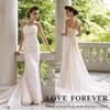 Cheap Elegant Fashion Designer Discount Unique Beach Bridal Pleated Tulle suzhou wedding dress