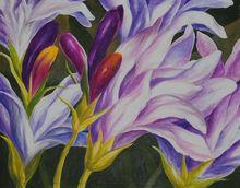 Xiamen Purple Flower Painting Wall Art for Sale