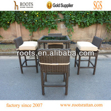 outdoor rattan bar table and chair
