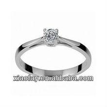 nuovo un carato 925 sterling silver anello di nozze