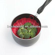 cheap silicone cook tool red Silicone greenstuff Steamer Baking Pan LFGB FDA bakeware